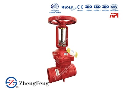 OS&Y Gate Valve with groove end